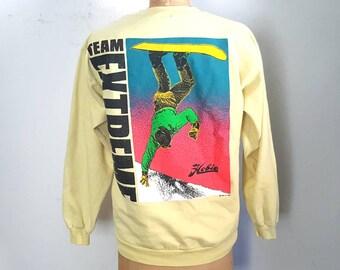 "1989 Vintage Hobie ""Team Extreme"" Snowboarding Sweatshirt - M-L"