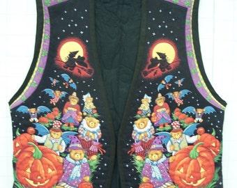 Hand Quilted Halloween Vest