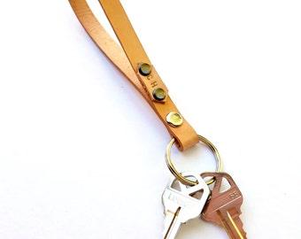 Leather Wristlet, Leather Keychain, Wrist Strap, Leather Key Strap, Gifts For Him, Gifts For Her, Custom Wristlet, Custom Wrist Strap