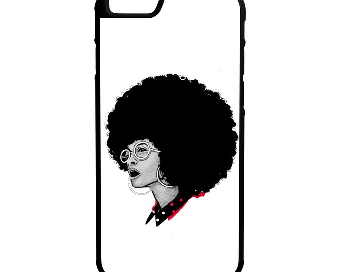 Black Girl Magic iPhone Galaxy Note LG HTC Hybrid Rubber Protective Case