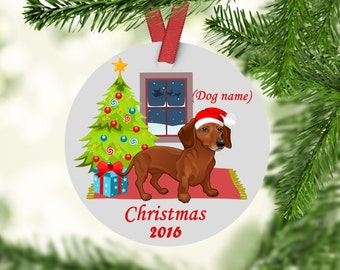 Dachshund Christmas Ornament, Dachshunds, Custom Dachshund Ornament, Dachshunds First Christmas, Dachshund Ornament, Doxen Ornament