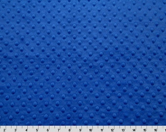 Electric Blue Dimple Minky From Shannon Fabrics