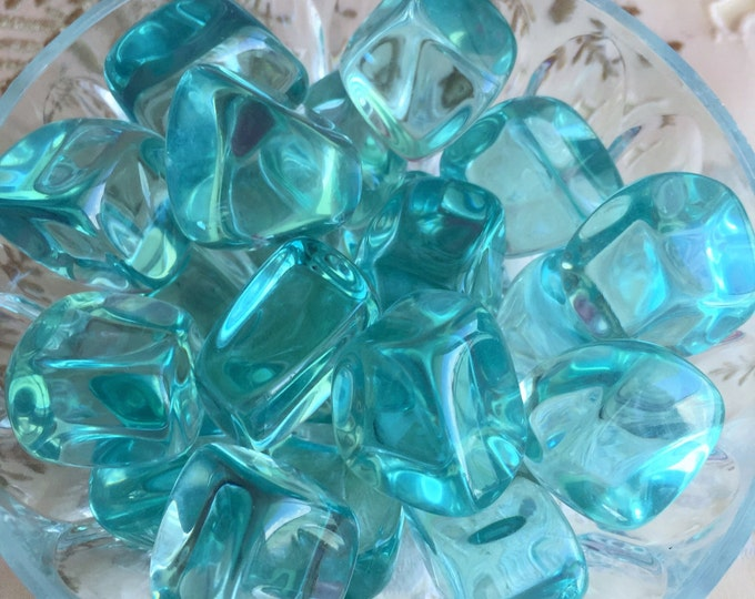Bulk Crystals 10 AQUA Obsidian Crystals infused w/ Reiki,  Healing Crystals and Stones