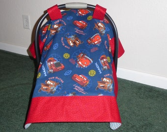 CARS LIGHTNING MCQUEEN, Tow Mater, Mack & Red for baby Handmade Car Seat Canopy Cover