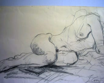 Drawing, Sleeping girl