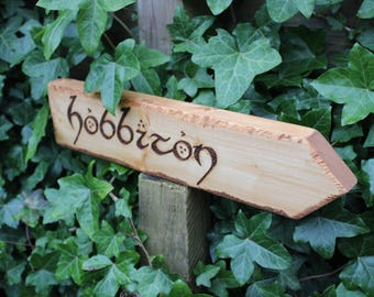 Lord of the Rings Location Signs Rivendell Hobbiton Green Dragon The Shire Rustic PointedSigns Middle Earth Inspired Places Inside Outside