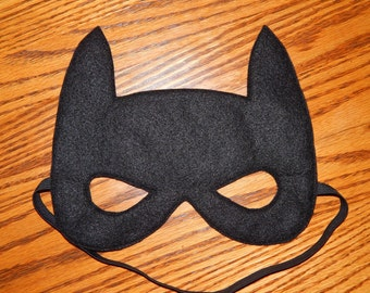 Inspired by Batman Movie Style Felt Superhero Mask Costume