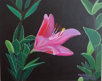 Pink Beauty Acrylic Painting
