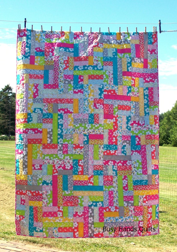 Scrappy Patches Pdf Quilt Pattern Jelly Roll Fat Quarter