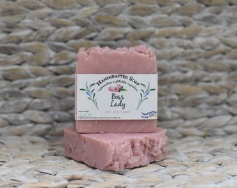 Rose and Glitter Soap - Handcrafted Soap - Boss Lady - Glitter Soap Bar - Pink Soap - Rose Scented Soap - Soap Bar - Handmade Soaps