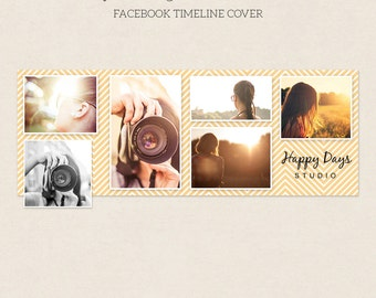 Facebook Timeline Cover - Facebook Timeline Template - PSD Template - Customize Facebook Page - Instant Download - F208