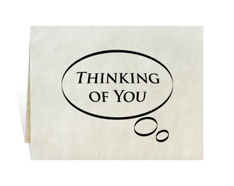 Thinking of you thought bubble printable card or poster to show care, concern, love, compassion, get well, thoughtfulness and personalize.