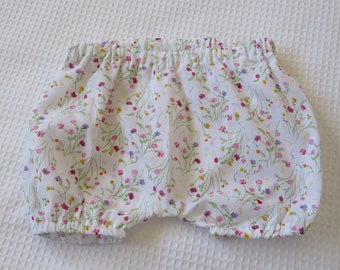 Baby bloomers- Floral bloomers-Cotton bloomers-Baby shorts