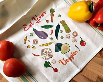 Eat Your Veggies Kitchen/Tea Towel