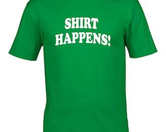SHIRT HAPPENS - hidden meaning Men's T-Shirt from FatCuckoo - MTS1161