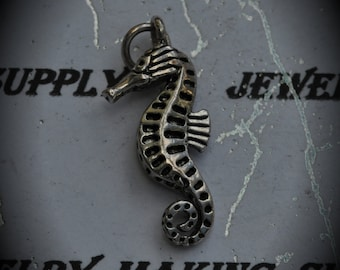 Seahorse Sterling Silver Plated Charm