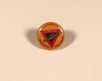 Minnow Club - National Aquatic Program, Original 1940s YMCA Pin-Back Button