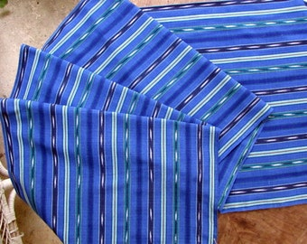 Guatemalan Fabric in Blue Stripes