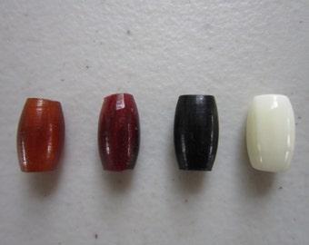 "100   Buffalo Bone/Horn 1/2""  Hairpipe Beads Amber, Black Red & White Jewelry/craft Making"