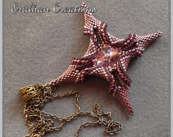 "Beaded pendant ""Polaris"" - tutorial"