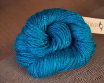 Bamboo Worsted Weight Yarn Hand spun Aegean Blue