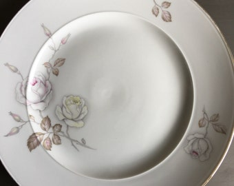 Johann Haviland Sweetheart Rose 1969 Dinner Plate Vintage Bavaria Germany Soft Pink & Yellow - #1785