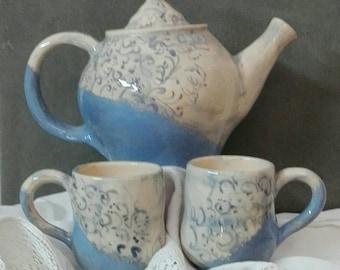 Stoneware teapot-Stoneware teapot
