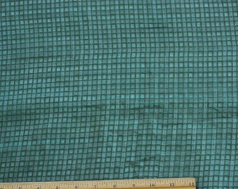 "Green Silk/Viscose Window Pane Silk Fabric, 54"" Wide, By The Yard (17197F)"