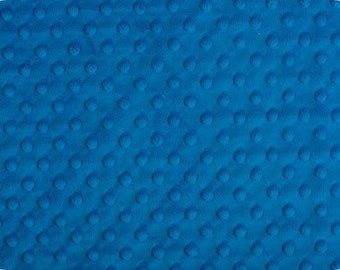 Electric Blue Minky - Electric Blue Dimple Dot by Shannon Fabrics 1 FAT Half  30 by 36 inches
