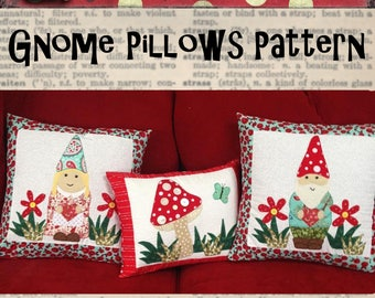 PDF Download Pattern for Gnome themed pillows