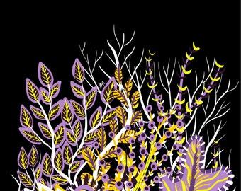 Assorted Plants Digital Print