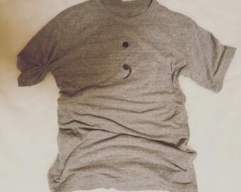 Semi Colon T Shirt ;