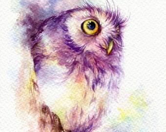 "PRINT – Hello World Watercolor painting 7.5 x 11"""