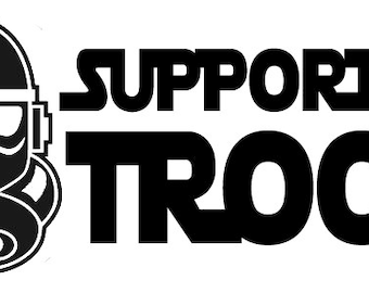 Support our Troops Storm Trooper Star Wars #2 Vinyl Decal Sticker