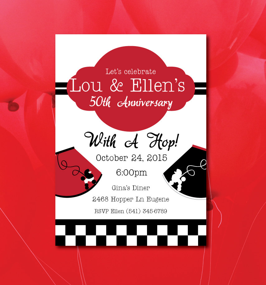 50 S Sock Hop Party Invitations - All The Best Invitation In 2018