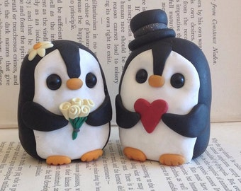 Penguin wedding cake topper | Etsy