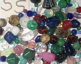 Vintage Glass Bead Group--more than 150 beads!