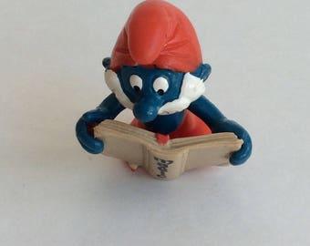 Vintage Papa Smurf with Magic Book
