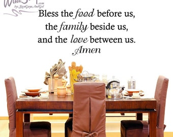 Bless The Food Before Us Family Beshide And Love Between Wall Art