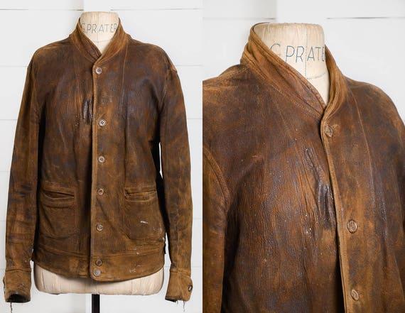 Roughout leather jacket iDMTov