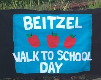 walk to school day banner