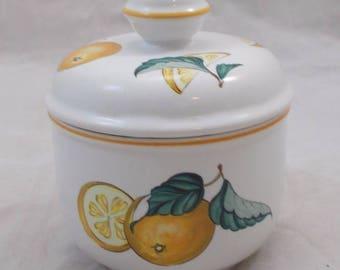 VILLEROY & BOCH lemon/citrus jam pot