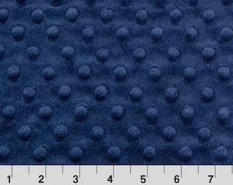 1 Yard Navy Minky Fabric, Navy Blue Shannon Fabrics Minky, Navy Blue Minky Fabric
