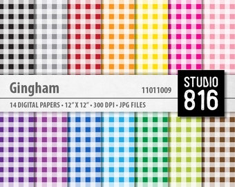 Gingham - Digital Paper for Scrapbooking, Cardmaking, Papercrafts #11011009