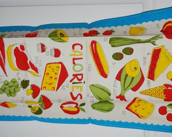 Count Your Calories Vintage Kitchen Towel
