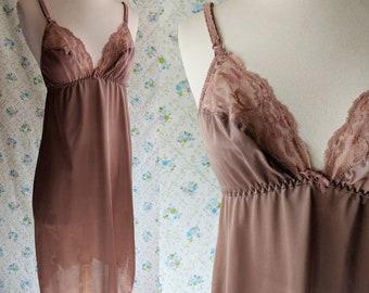 1970s mauve nightgown slip