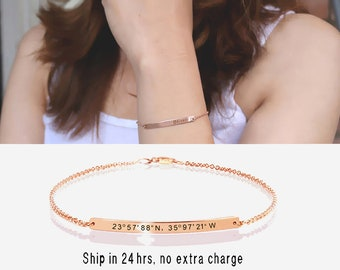 valentines day gifts, Bridesmaids' Gift, Gold/Silver/Rose Bracelet, Engraved Wedding gift, personalized bracelet, Engraved bracelet