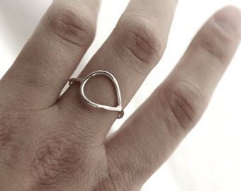 Miss Nora Ring - Sterling Silver Teardrop