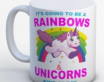Rainbows & Unicorn Birthday Mug Colourful Unicorn Mug Gift Unicorn Gift MUG Unicorn Present Girls Mug - Birthday Christmas Mug Unicorns