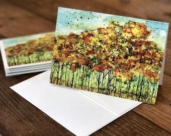 Autumn Forest : Fine Art Greeting Card